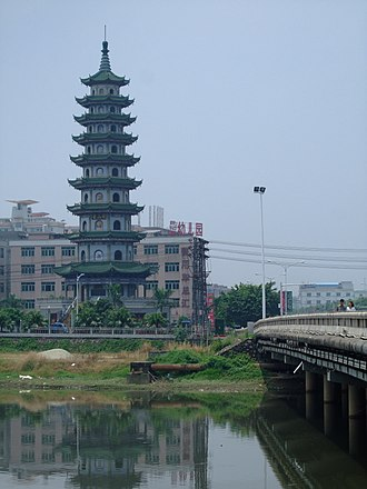Changping, Guangdong - view at the river in Changping