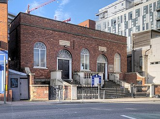 Listed buildings in Salford, Greater Manchester - Image: Chapel Street and Hope URC, Salford