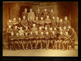 School uniform - School boys in France 1880