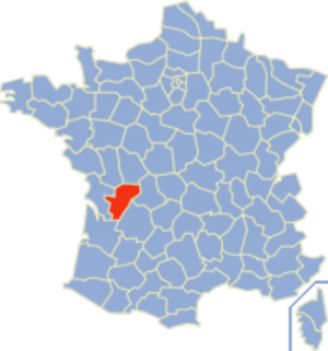 Communes of the Charente department - Image: Charente Position