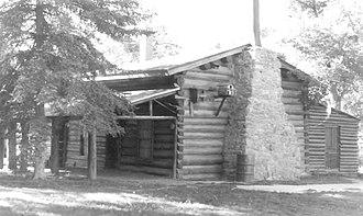 C. M. Russell Museum Complex - Russell's original log cabin studio in 1976.
