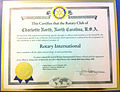 Charter of Charlotte North Rotary Club.jpg