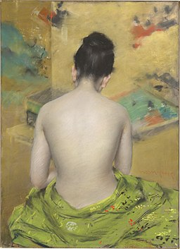 Chase William Merritt Back Of A Nude 1888