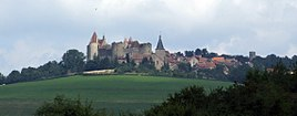View of Châteauneuf and its castle