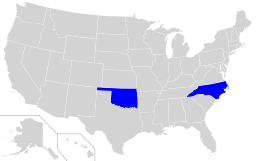 Cherokee language spread in the United States.