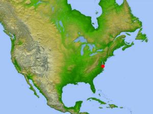 Chesapeake Bay impact crater - Image: Chesapeake Crater location