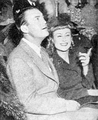 Chester Morris - Chester Morris and his wife Lillian in 1943