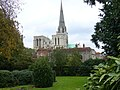 Chichester Cathedral seen from Bishop's Palace Gardens - geograph.org.uk - 1074628.jpg