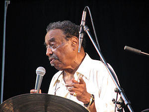 Jazz drummer Chico Hamilton appearing at the C...