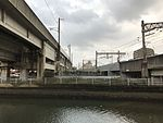 Chikuhi Line and Kuko Line from west side of Jurogawa River.jpg