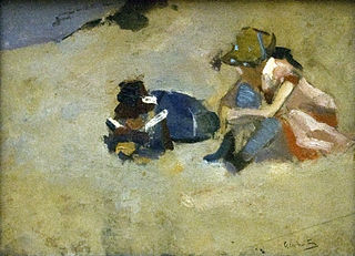 Kinderen in het duin