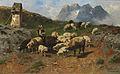 Christian Friedrich Mali - Hirtenjunge mit Schafen im Gebirge (1904).jpg