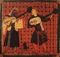 Christian and Muslim playing ouds Catinas de Santa Maria by king Alfonso X.jpg