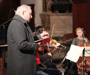 Christopher Hogwood - Hogwood leading a rehearsal for his Gresham College lecture in 2013