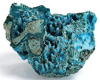 Chrysocolla - Chrysocolla, Ray Mine, Scott Mountain area, Mineral Creek District, Pinal County, Arizona, USA