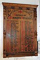 Church of St Andrew, Nuthurst, West Sussex - incumbents roll board.jpg