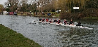 Churchill College Boat Club - Image: Churchill College Boat Club Lent Bumps 2008 M2