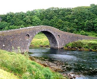 "Hebrides - Clachan Bridge between the mainland of Great Britain and Seil, also known as the ""Bridge across the Atlantic"", was built in 1792."