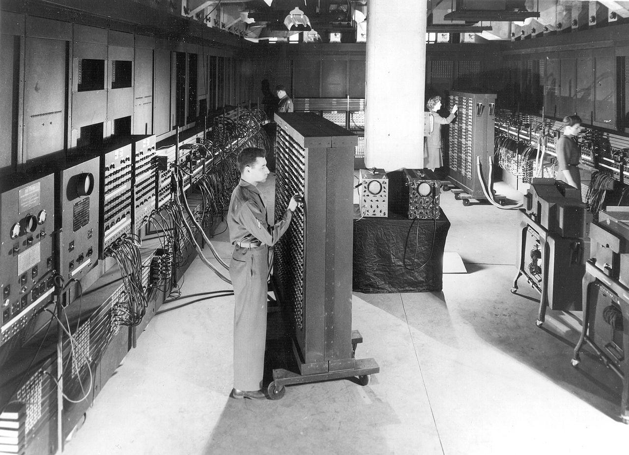 La stanza dove si trovava ENIAC.