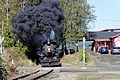 Classic steam locomotive, Whistling in Oregon (21949597196).jpg