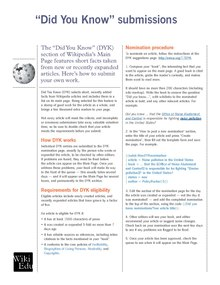 Classroom handout - Submitting an article to the Did You Know process.pdf