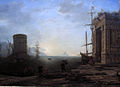 Claude Lorrain.Harbour view at sunrise.jpg