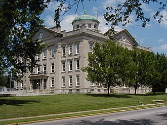 National Register of Historic Places listings in Clay County, Indiana - Image: Clay County Courthouse, Brazil