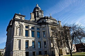 National Register of Historic Places listings in Clinton County, Indiana - Image: Clinton County Indiana Courthouse