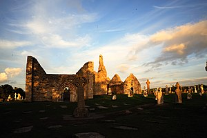 Clonmacnoise - Clonmacnoise at sunset