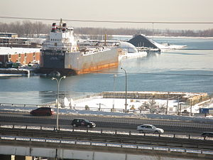 Algolake - Image: Closeup of Toronto harbour, from H, 2013 02 09 a