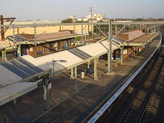Clyde railway station, Sydney railway station in Sydney, New South Wales, Australia
