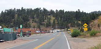 "Coal Creek, Boulder County, Colorado - The ""downtown"" section of Coal Creek."