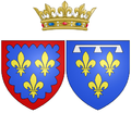 Coat of arms of Marie Louise Élisabeth d'Orléans as Duchess of Berry.png