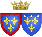 Description de l'image Coat of arms of Marie Louise Élisabeth d'Orléans as Duchess of Berry.png.