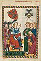 Codex Manesse 318r Burggraf von Regensburg.jpg