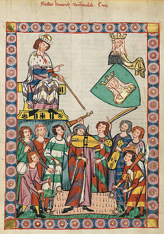Heinrich Frauenlob - Meister Frauenlob in the Codex Manesse