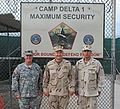 Col. Wade F. Dennis, Rear Adm. Mark H. Buzby and Cmdr. John R. Capra, Camp 1 Guantanamo Bay detention camps, in Cuba.jpg