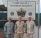 Col. Wade F. Dennis, Rear Adm. Mark H. Buzby and Cmdr. John R. Capra, Camp 1 Guantanamo Bay detention camps, in Cuba.jpg