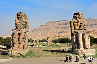 Colossi of Memnon Two Ancient Egyptian statues near Luxor