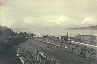 Commencement Bay - Commencement Bay from Tacoma, circa 1900
