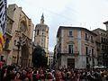 Concentració per les línies en valencià, 9 de juny, plaça de la Mare de Déu de València.JPG