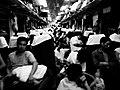 Congested train in Zhuzhou, Hunan, China, 2008.jpg