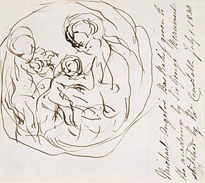 Taddei Tondo - Image: Constable Sketch of Michelangelo's Taddei Tondo