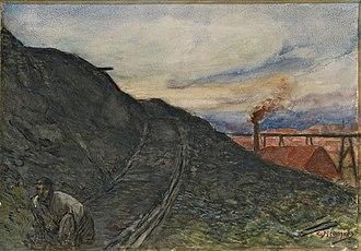 Constantin Meunier - Image: Constantin Meunier Path descending from the slag heap