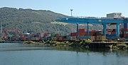 Containerhafen in Linz.