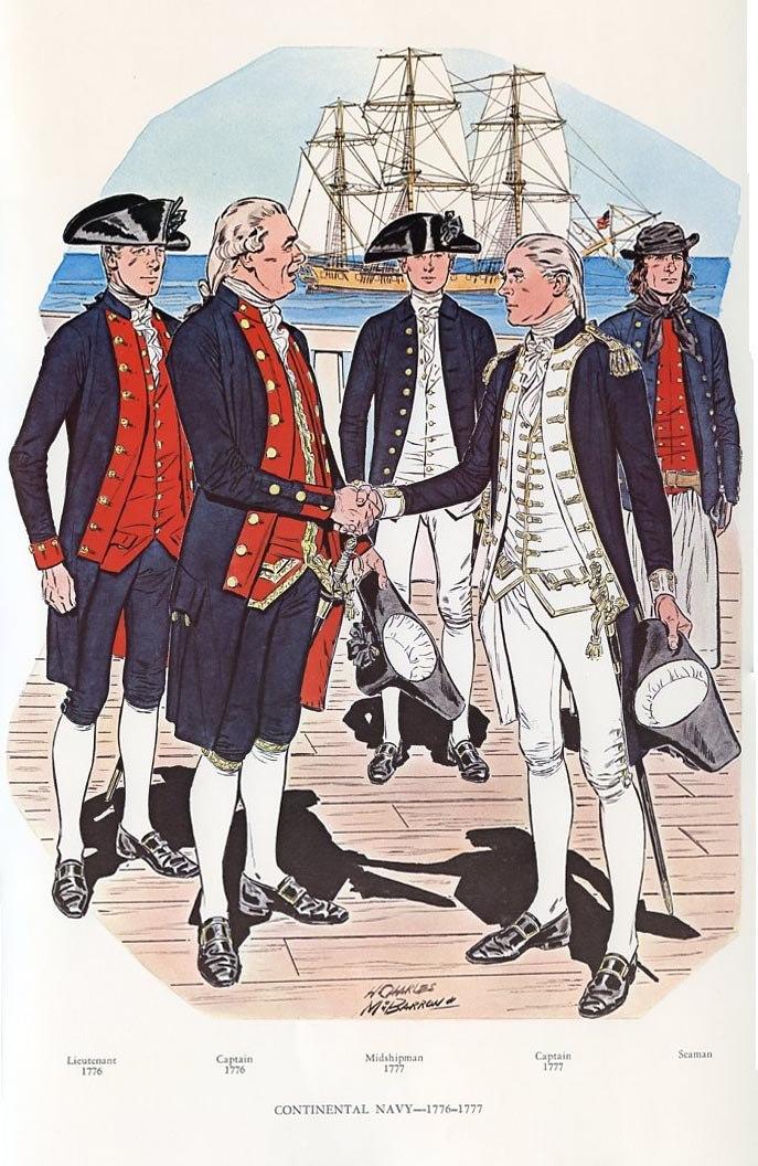 Continental Navy, 1776-1777
