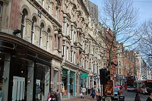 Corporation Street, Birmingham - The façades of the buildings fronting Corporation Street.