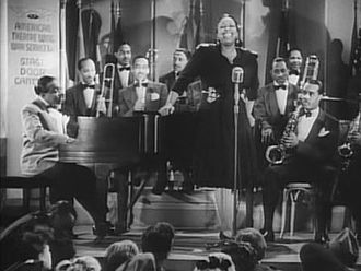 Jazz band - Count Basie and band, with vocalist Ethel Waters, from the film Stage Door Canteen (1943)