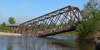 Cowboy Trail - Image: Cowboy Trail Norfolk Elkhorn River xing damaged 4