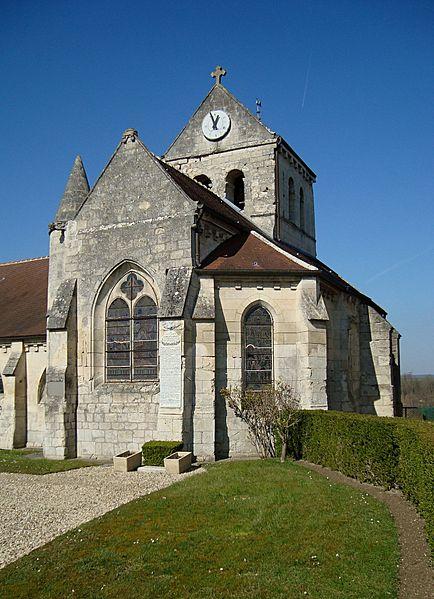 Eglise de Coyolles, Aisne, France.